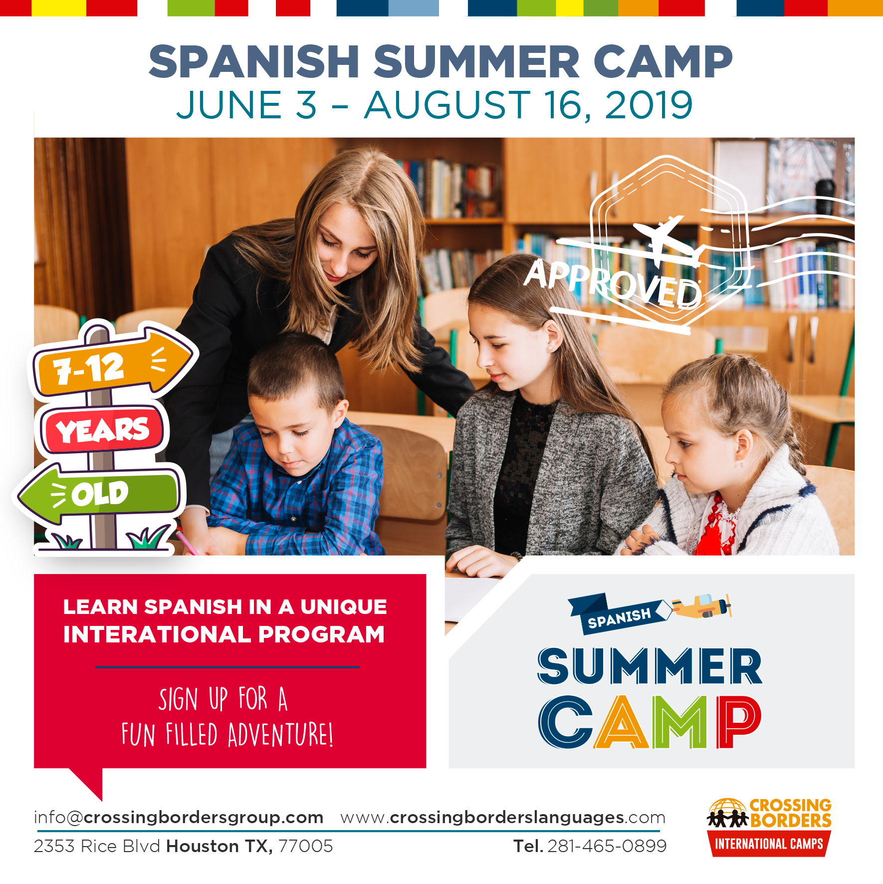 Ages 7-12 Spanish Summer Camp